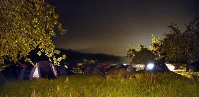 Zelten auf dem Festivalgelände